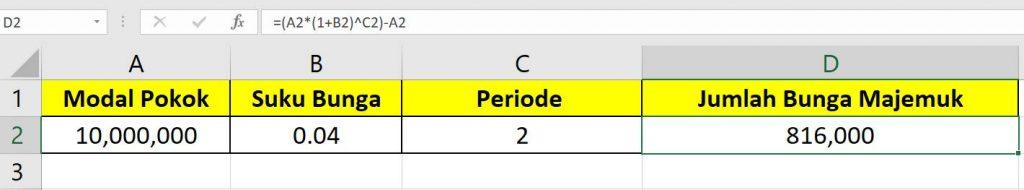 Perhitungan Bunga Majemuk dengan Excel